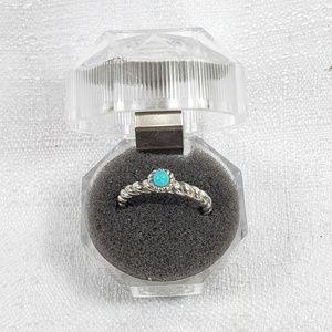 Judith Ripka SS & Sleeping Beauty Turquoise Ring